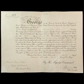 Great War period Territorial Force Commission Warrant issued in the name of Vincent Raine Wilton,...