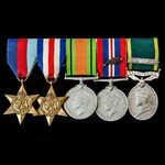 Second World War North West Europe Mention in Despatches and Territorial long service group award...