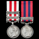 Persia 1857 and Indian Mutiny Defence of Lucknow First Relief Force pair awarded to Private John ...