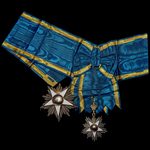Egypt - Kingdom: Order of the Nile, Grand Cordon Set by Lattes of Cairo, in box of issue. A Sash ...