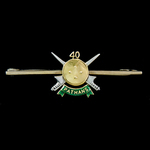 Indian Army 40th Pathans Tie Pin, gold and enamel, unmarked and continental made, most probably 1...
