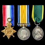Great War Gallipoli and Territorial Force Efficiency Medal group awarded to Corporal sometime Act...