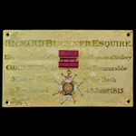 The superb Peninsula War Officer and triple Field Officer Small Gold Medal recipient's Chapel Sta...