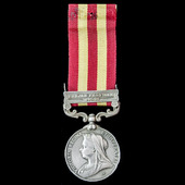 India General Service Medal 1895-1902, 1 Clasp: Punjab Frontier 1897-98, awarded to Sowar Mohkam ...