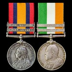A South Africa Boer War pair awarded to Private W. Hystead, 3rd Battalion, East Kent Regiment – t...