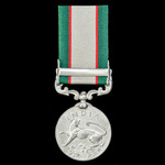 An India General Service Medal 1936-1939, 1 Clasp: North West Frontier 1936-37, awarded to a Sepo...