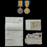 Great War Middle East Operations pair award to Private 1st Class J.R. Daws, Royal Air Force, form...
