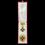 Ethiopia, Empire: Order of Emperor Menelik II, 2nd Class Grand Officer Grade. Silver-gilt and ena...
