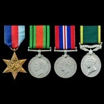 Second World War and Territorial long service group awarded to Trooper W. Tate, Derbyshire Yeoman...