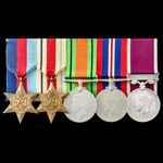 Second World War North Africa Casualty and long service group awarded to Warrant Officer 2nd Clas...