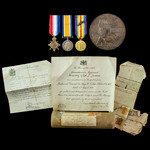 Great War Mesopotamia Attempt to Relieve Kut-al-Amara 21st April 1916 Casualty trio and plaque aw...