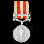 Indian Mutiny Medal 1857-1858, 1 Clasp: Lucknow, awarded to Private Robert Voizey, 97th Earl of U...