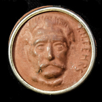 Germany - Third Reich: Tinnie Badge Commemorating the German Nationalist author Johann Hinrich Fe...