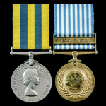 Korea Pair awarded to Trooper N.E. Wellox, 5th Dragoon Guards who saw service in Korea during the...