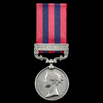 India General Service Medal 1854-1895, 1 Clasp: Chin-Lushai 1889-90 awarded to Rifleman Bhagesor ...