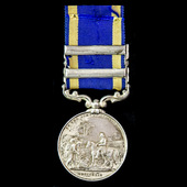 Punjab Medal 1847-1849, 2 Clasps: Goojerat, Chilianwala, awarded to Private Thomas Hawkesby, 61st...