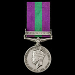 Second World War Anzio January 1944 Casualty General Service Medal 1918-1962, GVI 1st type bust, ...