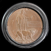 An emotive Great War Western Front Officer's Memorial Plaque named to Charles William Kenyon, a S...