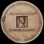 Germany - Weimar Republic: Commemorative Medal for the Flights of the Airship LZ 127 'Graf Zeppel...