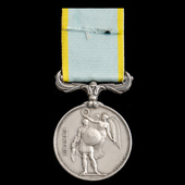Crimea Medal 1854-1856, no clasp, officially impressed naming, awarded to Carpenter's Mate Charle...