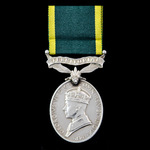 Efficiency Medal, GVI 1st type bust, Territorial suspension, awarded to Serjeant B. McK. Lamb, Su...