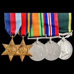 Second World War Burma campaign Territorial long service group awarded to Lieutenant R.G. Paterso...