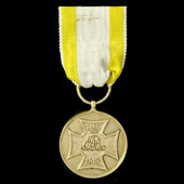 Germany – Imperial States - Hanover: War Commemorative Medal for the Volunteers of 1813 in Gilt-B...