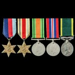 Second World War Middle East and Egypt operations Territorial long service group awarded to Bomba...