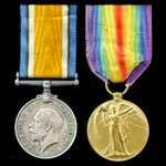 Great War casualty pair awarded to Gunner T.H. Harrowsmith, Royal Field Artillery who received a ...