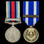 Afghanistan Operation Herrick pair awarded to Marine L.J. Taylor, Royal Marines, who saw service ...
