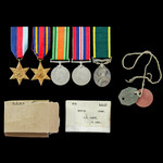 Second World War Burma campaign and Territorial long service group awarded to Signalman J.H. Lask...