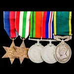 Second World War Italy Campaign October 1944 Casualty and Territorial long service group awarded ...