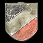 Germany - Third Reich: Wehrmacht Tropical Helmet Decal Shield, aluminium form, complete with all ...