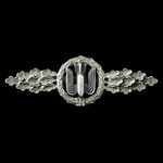 Germany - Third Reich:  A good example of the Luftwaffe Bomber Clasp in Silver, no makers marks a...