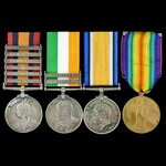 South Africa Boer War Relief of Ladysmith and Great War Western Front group awarded to Private E....