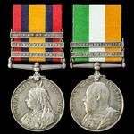 A South Africa Boer War pair awarded to Private H. Apps, 2nd Battalion, East Kent Regiment – the ...