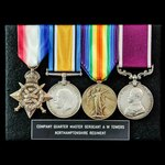 Great War 1914 Old Contemptible and Army long service group awarded to Company Quartermaster Serg...