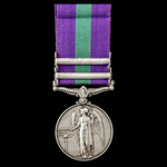 Regimentally rare General Service Medal 1918-1962, GVI 1st type bust, 2 Clasps: S.E. Asia 1945-46...