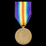 Battle of Amiens Casualty Victory Medal awarded to Private R.H. Hewitt, 6th Battalion, Lincolnshi...