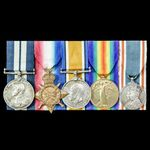 The very fine Great War Battle of Jutland Distinguished Service Medal group awarded to Engine Roo...