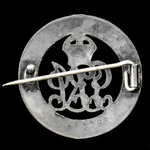 Silver War Badge, reverse numbered '352299' as awarded to Private Robert W. Brabban, Depot, Durha...