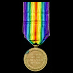 Victory Medal awarded to Private A.J. Wynne, Royal Fusiliers, who was then wounded in action in 1...