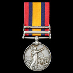Queen's South Africa Medal 1899-1902, 2 Clasps: Transvaal, South Africa 1902, awarded to Corporal...