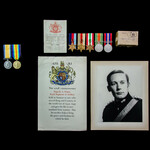 Second World War Middle East and Italian Campaign Officer Casualty group with fathers Great War m...