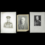 A fine selection of three original photographs, all taken in England, of the Imperial Russian Gen...