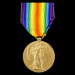 Victory Medal awarded to Private W. Waterman, 50th Battalion Canadian Infantry, who was present o...