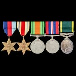 Second World War North Africa and Middle East operations Territorial long service group awarded t...