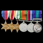 Second World War Middle East and Italy, and post-war Malayan Emergency group awarded to Signalman...