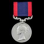 Sutlej Medal 1845-1846, reverse for Sobraon 1846, no clasp, awarded to Private Robert Coates, 9th...