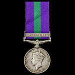 General Service Medal 1918-1962, GVI, 1 Clasp: Palestine, awarded to Private D.G. Hending, Royal ...